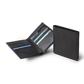 Portefeuille de porte-cartes de crédit en cuir italien noir Pour hommes;s