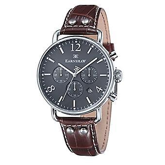 Thomas Earnshaw's chronograph wrist watch, leather strap, Brown