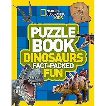 Puzzle Book Dinosaurs - Brain-kutitus tietokilpailuja - sudokus - ristikko