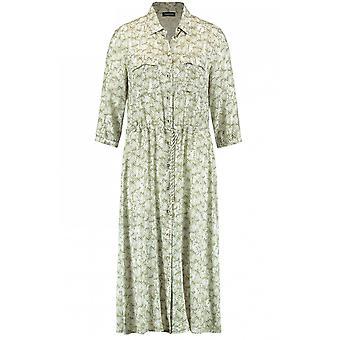 Taifun Khaki Snake Print Shirt Dress