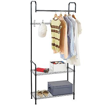 Modern Home Entryway/Mudroom Coat/Hat/Shoe Rack Organizer - Entrance Hall Tree Storage Rack for Jackets, Umbrella, Caps, Backpacks, Scarves and more