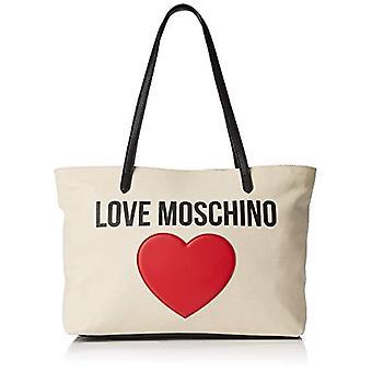 Love Moschino Bolsa Lona E Guijarro Pu Mano Mujeres (Negro) 12x29x41 cm (An x Al x L)