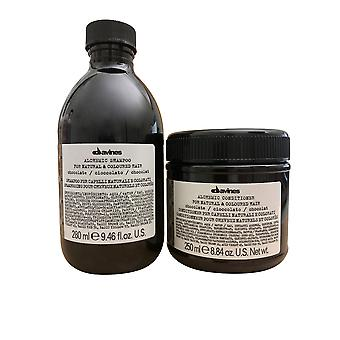 Davines Alchemist Shampoo Schokolade 9,46 OZ & Conditioner 8,84 OZ Set