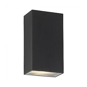 Wall Light 3w Led Outdoor, In Aluminum And Glass, Black