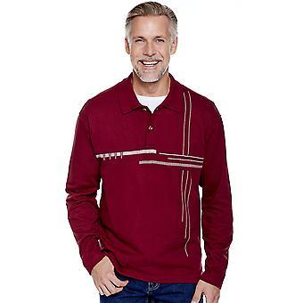 Chums Mes Polo Sweatshirt met Chest Print