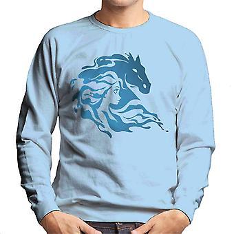 Disney Frozen II Nokk Elsa Silhouette Men's Sweatshirt