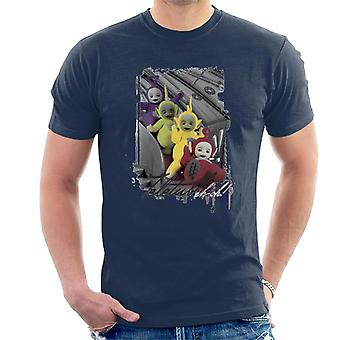 Teletubbies Slide Greyscale Men's T-Shirt