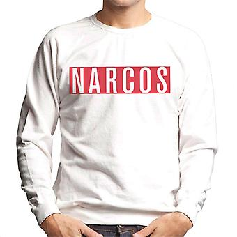 Narcos White Text Block Logo Men's Sweatshirt