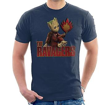 Marvel Guardians Of The Galaxy Baby Groot Ravagers Men's T-Shirt