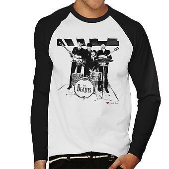 Beatles kiittää sinun onnekas tähteä Birmingham 1963 valkoinen miesten Baseball pitkähihainen t-paita