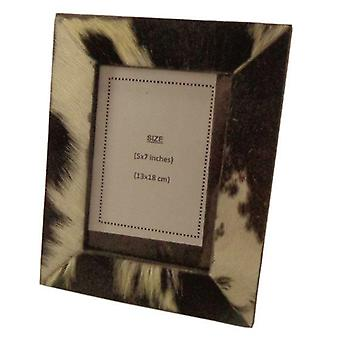 Deco4yourhome Cowhide Picture Frame Multi
