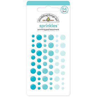 סוכריות על בריכת שחייה בעיצוב דודלבאג (54pcs) (4010)