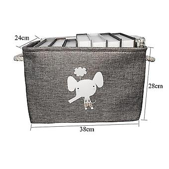Cute Animal Large Folding Laundry Basket With Lid - Toy Storage Baskets Bin For Kids Toys Clothes Organizer