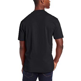 Dickie's Men's Short Sleeve Heavyweight Crew Neck Pocket T-Shirt, Black, X-La...