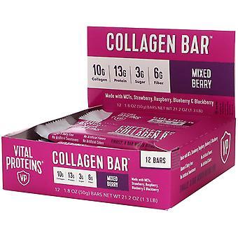 Vital Proteins, Collagen Bar, Mixed Berry, 12 Bars, 1.8 oz (50 g) Each