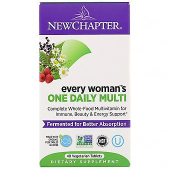 New Chapter, Every Woman's One Daily Whole-Food Multivitamin, 48 Vegetarian Tabl