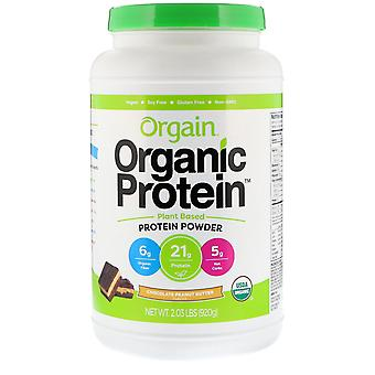 Orgain, Organic Protein Powder, Plant Based, Chocolate Peanut Butter, 2.03 lb (9