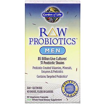 Garden of Life, RAW Probiotics, Men, 85 Billion Live Cultures, 90 Vegetarian Cap