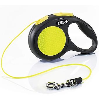 Flexi Neon 3m Cord - X-Small - Black/Neon