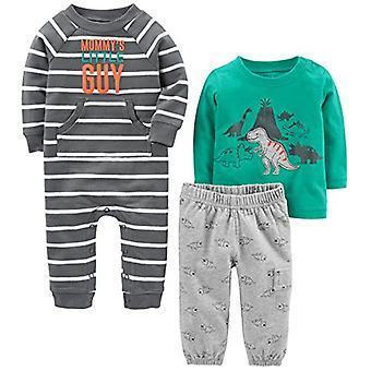 Simple Joys by Carter's Baby Boys' 3-Piece Playwear Set, Turquoise/Gray Dino,...