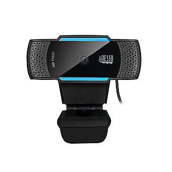 CyberTrack H5 Webcam HD 1080P - Autofokus Webcam - eingebautes Dual-Mikrofon - Stativbefestigung und Privacy Shutter