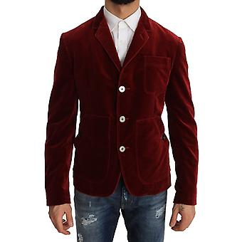 Dolce & Gabbana Sport Coat Blazer Bordeaux Fløyel Jakke JKT1190-1