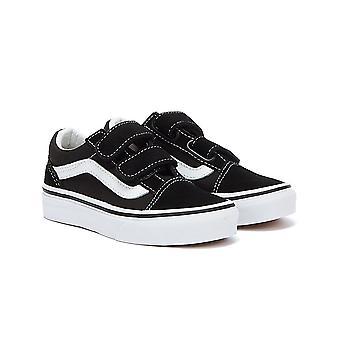 Vans Kids Black/White Old Skool Trainers