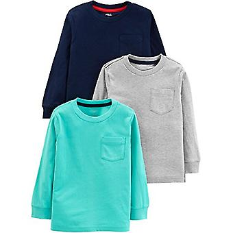 Simple Joys by Carter's Boys' Toddler 3-Pack Solid Pocket Long-Sleeve Tee Shi...