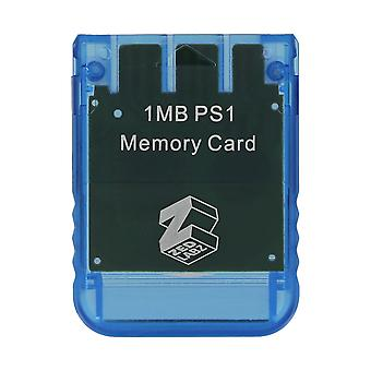 1mb 15 block memory card for sony ps1 psx playstation one - ps2 compatible* - blue