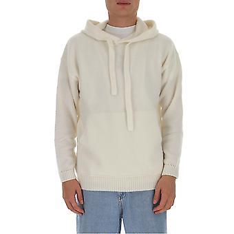 Laneus Cpu1005cc14wht Men's White Cashmere Sweatshirt