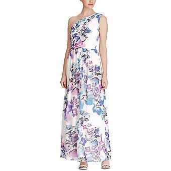 Lauren by Ralph Lauren | One-Shoulder Floral Georgette Gown