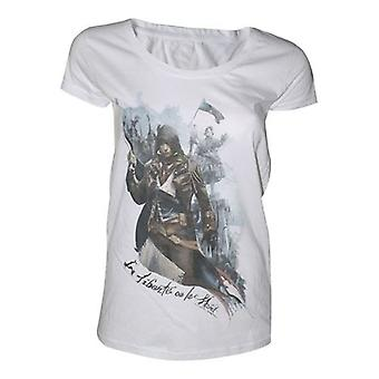 ASSASSINS CREED Unity Femeie Libertate sau Moarte T-Shirt Mare Alb (TS190104ASC-L)