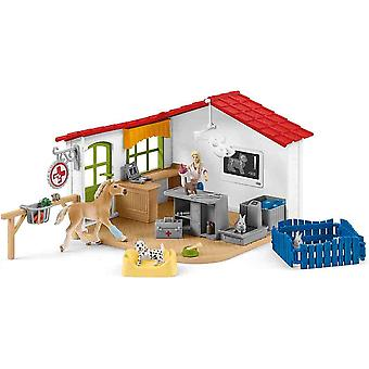 Schleich veterinarian practice with pets play set for children over 3 years old