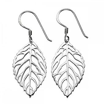 Anfänge Sterling Silber E4194 ausgeschnitten Blatt Tropfen Ohrringe