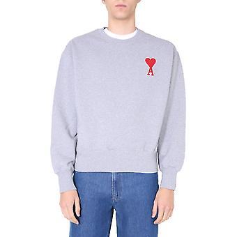 Ami H20hj034747055 Herren's grau Baumwolle Sweatshirt
