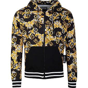 Versace Jeans Couture Baroque Print Zip Through Hooded Top