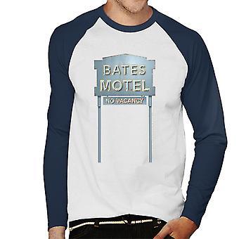 Psycho Bates Motel No Vacancy Men''s Baseball Long Sleeved T-Shirt