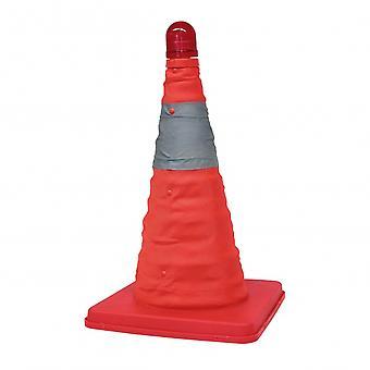 pylône de sécurité pliable plastique rouge 39 cm