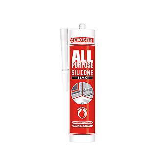 Evo-stik All Purpose Silicone Sealant Black C20