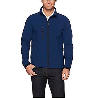Essentials Men's Water-Resistant Softshell Jacket, Navy, Large