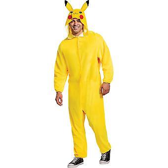 Pikachu Classic Costume för män och män