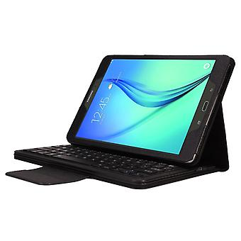 Pour Galaxy Tab A 9.7 / T550 & S2 9.7 / T810 2 en 1 boîtier en cuir de texture Bluetooth détachable avec support (noir)