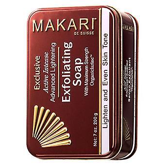 Makari Exclusive Soap - 200g Exfoliating Scrub - Lighten Blemished Skin, Natural Alternative to Bleaching to Reduce Discolouration & Pigmentation.