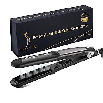 Professional Hair Straightener Flat Iron And Curler-steam Styler