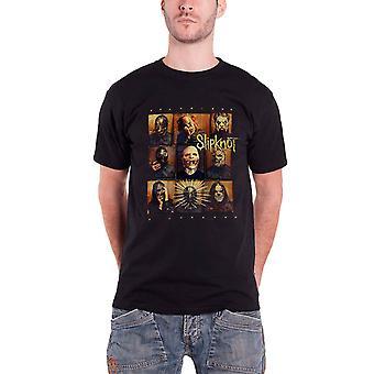 Slipknot Mens T Shirt Black Skeptic band logo Official