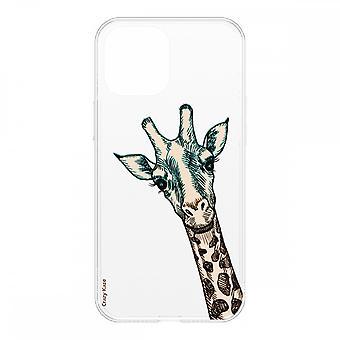 Skrog til iPhone 12 Mini (5,4) Giraf hoved Fleksibel