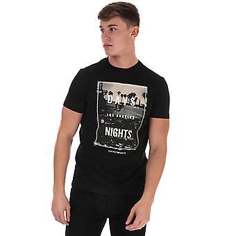 Men's Armani Graphic Logo T-Shirt in Black