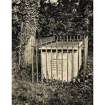 Tomb In Old Windsor Graveyard Of Mary Perdita Robinson 1757 Or 1758 To 1800 English Poet Novelist Actress PosterPrint