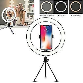 26cm Selfie-rengasvalo pitkällä laiskalla käsivarren matkapuhelimenpitimellä