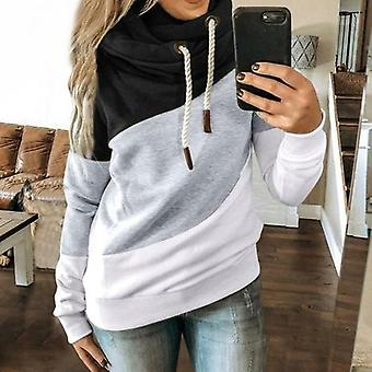 Patchwork Printed Long Sleeve Hoodies Sweatshirts